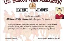 齐方炜主编受聘于美国迪贝(Beacon)艺术家协会专家组成员、中美文化艺术交流大使